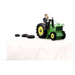 Figurka Młoda Para na traktorze - 11 x 13,5 cm.