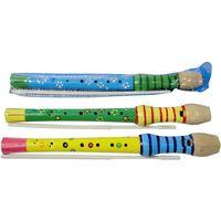 Zabawki z drewna, Zabawka SWEDE U340 Flet drewniany kolorowy