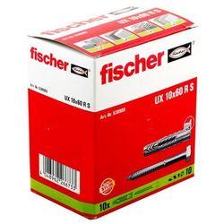 Kołki uniwersalne Fischer UX 10 x 60 mm z wkrętami z kołnierzem 10 szt.