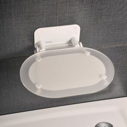Ravak siedzisko prysznicowe Ovo Chrome Clear/white B8F0000028