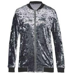 Bluza rozpinana aksamitna bonprix szary z połyskiem