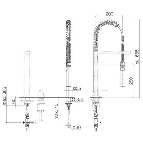 Baterie do kuchni, Bateria Dornbracht Lot 32843680-00