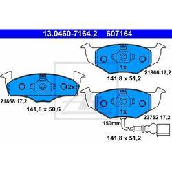 KLOCKI HAM ATE 13.0460-7164.2 SKODA FABIA 1.2 02-/ VW POLO 1.2 07-, 1.4 16V 01-