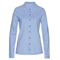 Shirt polo z bawełny pique bonprix perłowy niebieski