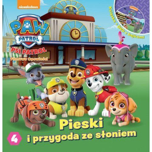 Książki dla dzieci, Psi Patrol. Filmowe Opowieści cz. 4. Pieski i przygoda ze słoniem. - Praca zbiorowa (opr. twarda)