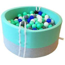 Suchy basen z piłeczkami dla dzieci BabyBall miętowy
