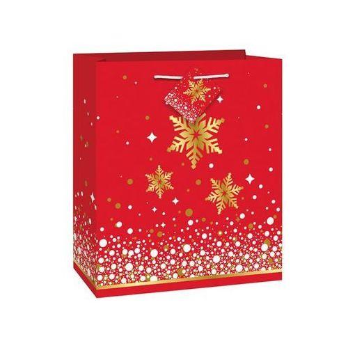 Opakowania prezentowe, Torebka prezentowa ze śnieżynkami - 23 x 18 cm - 1 szt.