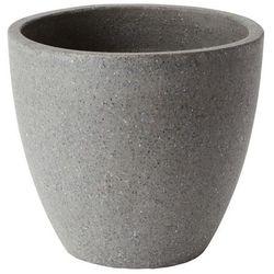 Donica Verve efekt cementu okrągła 40 cm antracyt