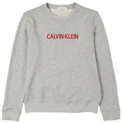 Calvin Klein Jeans Bluzka sportowa 'LOGO COTTON TERRY SWEATSHIRT' nakrapiany szary