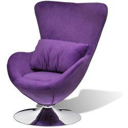 vidaXL Mały, fioletowy fotel obrotowy z poduszką Darmowa wysyłka i zwroty