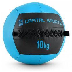Capital Sports Wallba 10 Piłka Wall Ball 10kg sztuczna skóra ciemnoniebieska