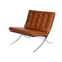 Fotel BA1 insp. Barcelona brązowy jasny vintage