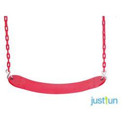 Huśtawka elastyczna na łańcuchu powlekanym - czerwony