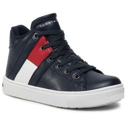 Sneakersy TOMMY HILFIGER - High Top Lace-up Sneaker T3B4-30510-0739 M Blue 800