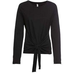 Shirt bonprix czarny z nadrukiem