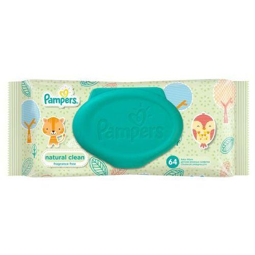 Chusteczki dla niemowląt, Pampers Chusteczki nawilżane Natural Clean 64 szt. - BEZPŁATNY ODBIÓR: WROCŁAW!