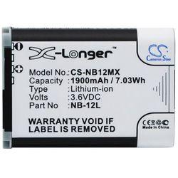 Canon LEGRIA Mini X / NB-12L 1900mAh 7.03Wh Li-Ion 3.6V (Cameron Sino)
