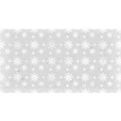 Dekoracyjny papier 17x32 cm śnieg 1 - szary - szary
