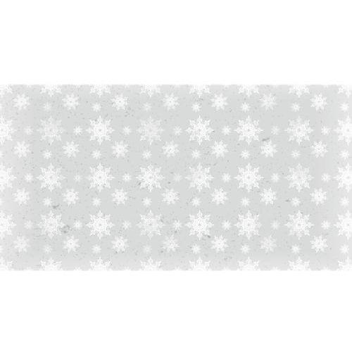 Ozdoby świąteczne, Dekoracyjny papier 17x32 cm śnieg 1 - szary - szary