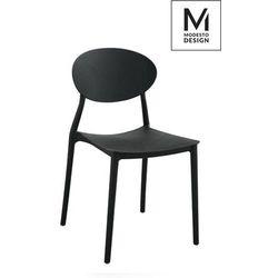 MODESTO proste krzesło plastikowe FLEX czarne - polipropylen