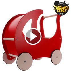 Wózek dla lalek drewniany z budką Kreke