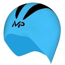 MP MICHAEL PHELPS CZEPEK STARTOWY X-O CAP BLUE-BLACK, KOLOR: BLUE, MATERIAŁ: SILIKON, ROZMIAR: S