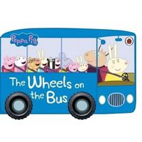 Książki dla dzieci, Peppa Pig The Wheels on the Bus - (opr. kartonowa)