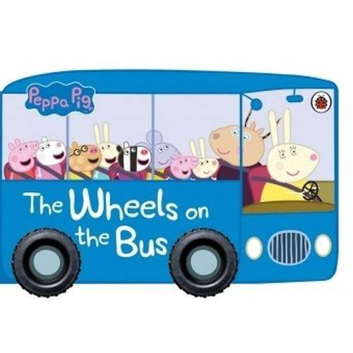 Książki dla dzieci, Peppa Pig The Wheels on the Bus - (opr. kartonowa)