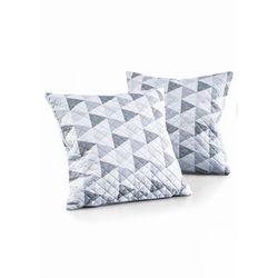Narzuta na sofę w trójkąty bonprix szaro-biały
