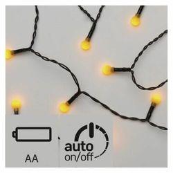 Lampki choinkowe EMOS 20 LED kulki 1.5m 2x AA IP20 Timer Żółty ZY1946
