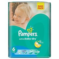 Pieluchy jednorazowe, Pampers Pieluchy Active Baby Dry 6 Extra Large Economy Pack (42 szt.)
