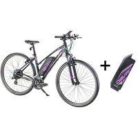 """Pozostałe rowery, Damski crossowy rower elektryczny Devron 28162 z zapasowym akumulatorem 14,5 Ah - model 2017, Czarny, 18"""""""