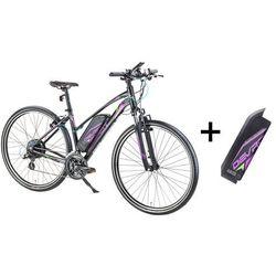 Damski crossowy rower elektryczny Devron 28162 z zapasowym akumulatorem 14,5 Ah - model 2017, Czarny, 19,5