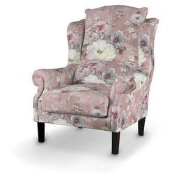 Dekoria Fotel, kremowe i różowe kwiaty na ciemno różowym tle, 85x107cm, Monet
