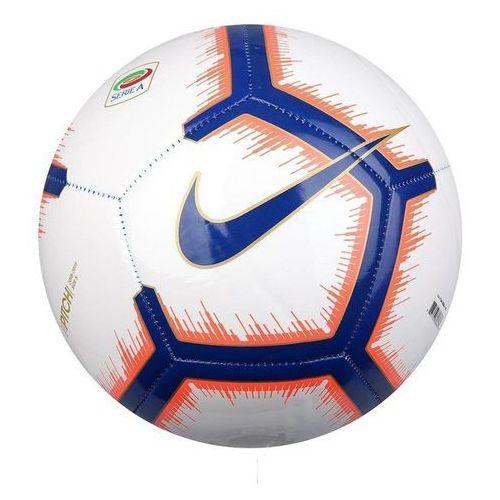 Piłka nożna, Piłka nożna Nike Serie A PTCH SC3374-100 biało-pomarańczowo-niebieska