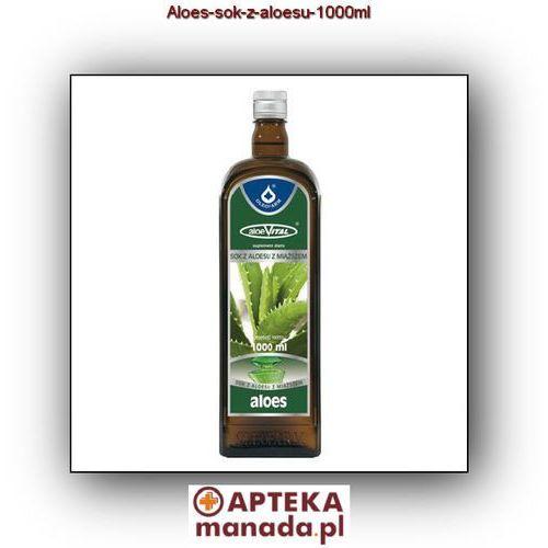 Witaminy i minerały, Aloes sok z aloesu - - 1000 ml