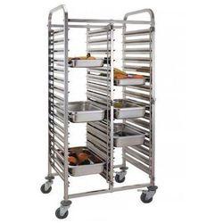 Wózek podwójny do transportu pojemników i tac | 30x GN1/1 | 550x740x(H)1735mm