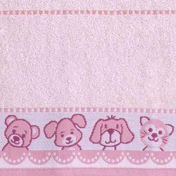 Greno Ręcznik dziecięcy Niedźwiadek 70x125 cm, różowy