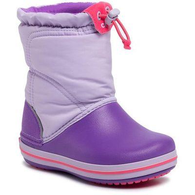 Śniegowce CROCS Crocband Lodgepoint Boot K 203509 LavenderNeon Purple, kolor fioletowy