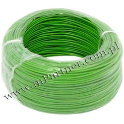 Przewód LGY 1x1,0mm zielony 100m.
