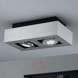 Plafon LAMPA sufitowa LOKE 1 91353 Eglo natynkowa OPRAWA metalowa IP20 prostokąt chrom
