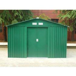 Altana ogrodowa z zielonej galwanizowanej stali MAXITA II - 9,3 m2