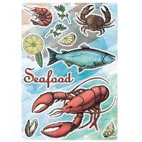 Naklejki na ściany, Naklejki na ścianę Seafood 17053h