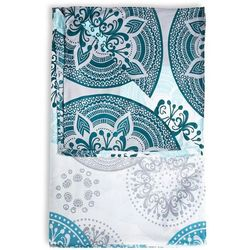 Narzuta we wzór ornamentów bonprix niebieskozielono-miętowy