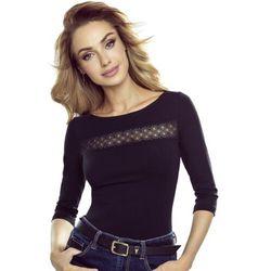 Ines koszulka bawełniana damska Eldar Romantica Active Czarna Zimowa (-8%)
