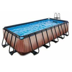 Basen EXIT 540 x 250 x 122 cm /brązowe drewno/