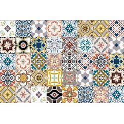 Winylowy dywan RICA z motywem cementowych płytek – 120 × 180 cm – wielokolorowy