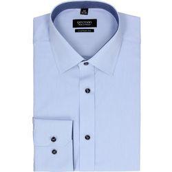 koszula bexley 2496 długi rękaw custom fit niebieski