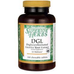Swanson DGL (Ekstrakt z korzenia Lukrecji) 385mg 180 tabletek do ssania