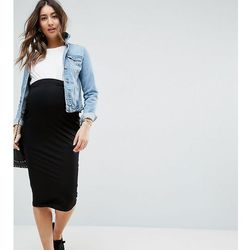 ASOS Maternity Over The Bump Midi Pencil Skirt in Jersey - Black